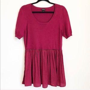 Torrid Wine Maroon Peplum Sweater Shirt 0x